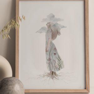 reaching – art print